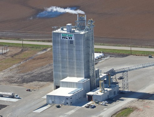 NEW Cooperative Feed Mill - Aerial View of Finished Feed Mill